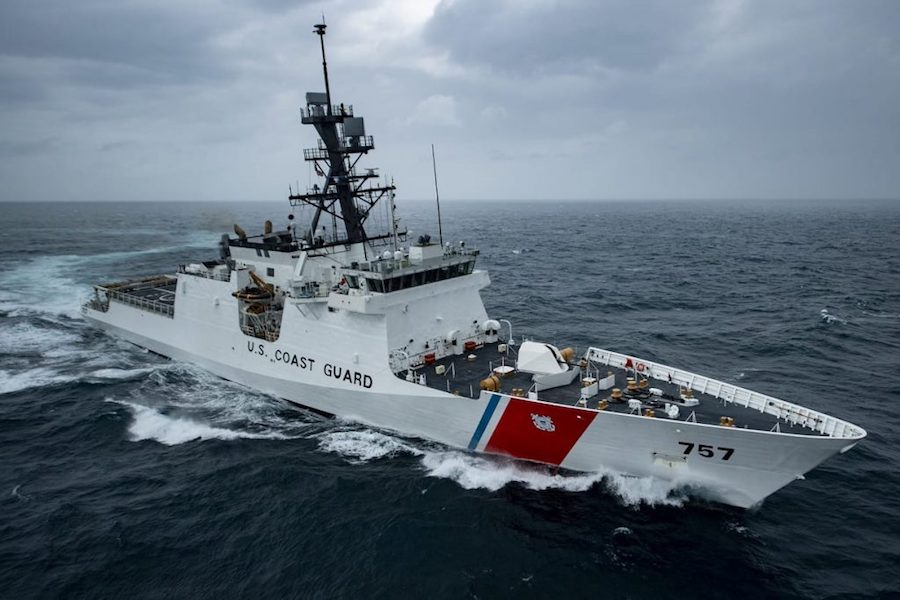 Huntington Ingalls Industries' (HII) Ingalls Shipbuilding division delivered the National Security Cutter (NSC) Midgett (WMSL 757) to the U.S. Coast Guard today. Midgett is scheduled to sail away in June and will be commissioned later this year, the US shipyard announced on May 1st.