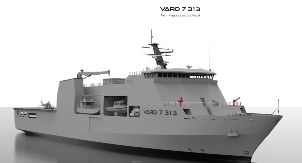 VARD Marine Inc., a Fincantieri company, is for the first time publicly showcasing two new 7-Series designs, the 7 510 Landing Ship Tank and the 7 313 Multi-Purpose Logistic Vessel at IMDEX Asia 2019, held in Singapore.