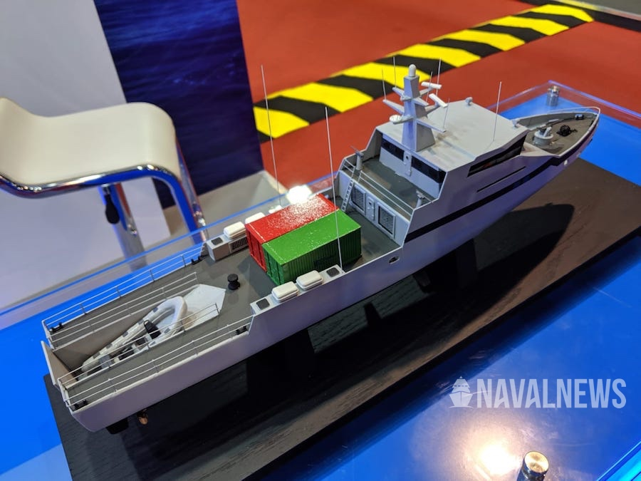 OPV-45 scale model at IMDEX 2019
