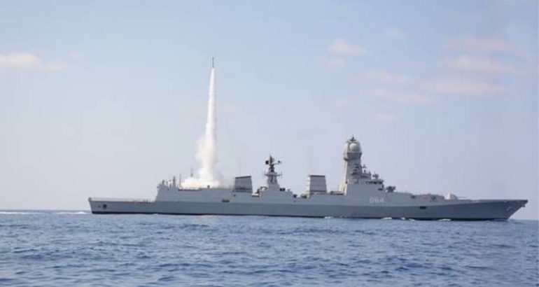 The Indian Navy successfully completed a first cooperative engagement firing of the Medium-Range Surface to Air Missile (MRSAM), the country's MoD stated on May 17, 2019.
