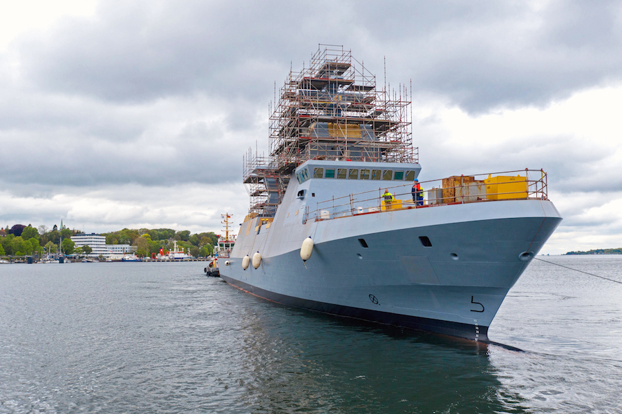 On May 23, 2019, the world's most modern corvette was named INS Magen at a ceremony in Kiel. This marks another important milestone in the ongoing program of thyssenkrupp Marine Systems as General Contractor to build four next-generation SA'AR-6 class missile corvettes for the Israeli Navy.