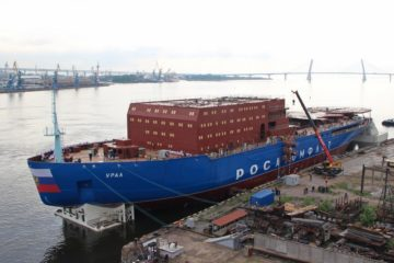 Russian Shipyard Launched Third Project 22220 Nuclear Powered Icebreaker