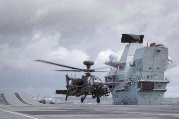 British Army Apache gunship starts trials with HMS Queen Elizabeth