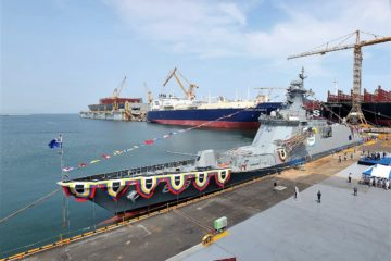 DSME Launched Second Daegu-class FFX Batch II frigate for ROK Navy