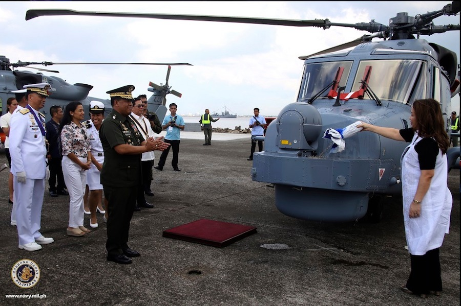 The Philippine Navy (PN) officially inducted two AW159 Wildcat ASW helicopters. The acceptance ceremony was held during the events marking the 121st anniversary of the PN.