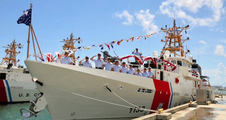 The US Coast Guard commissioned the 33rd fast response cutter (FRC), Joseph Doyle, in San Juan, Puerto Rico, June 8. The cutter is the seventh FRC to be stationed in San Juan.