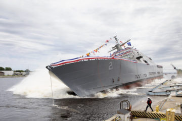 "Lockheed Martin launches LCS 21 ""USS Minneapolis-Saint Paul"""
