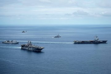 USS Boxer and Charles de Gaulle sail in Andaman Sea