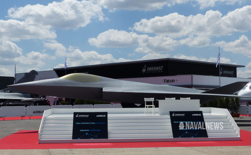 The NGF viewed form the side at le Bourget paris air show.
