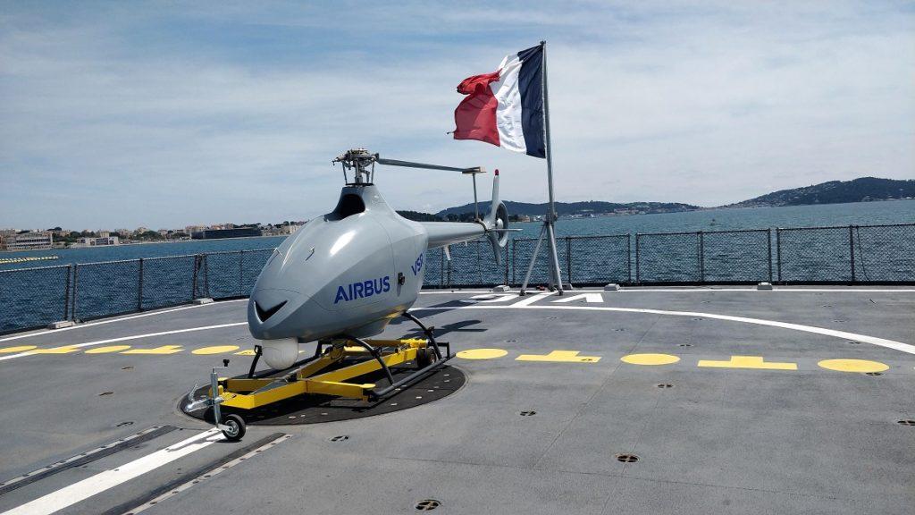 VSR700 VTOL UAV aboard a FREMM