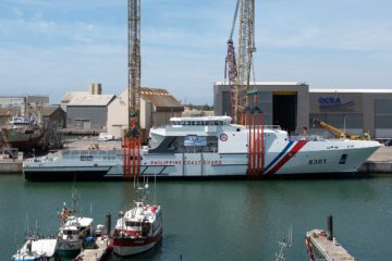 OCEA Launched Largest Aluminum OPV in the World for Philippine Coast Guard