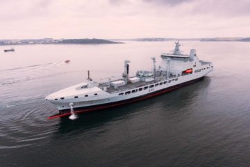 RFA Tideforce Joins Royal Fleet Auxiliary Completing UK's new tanker fleet