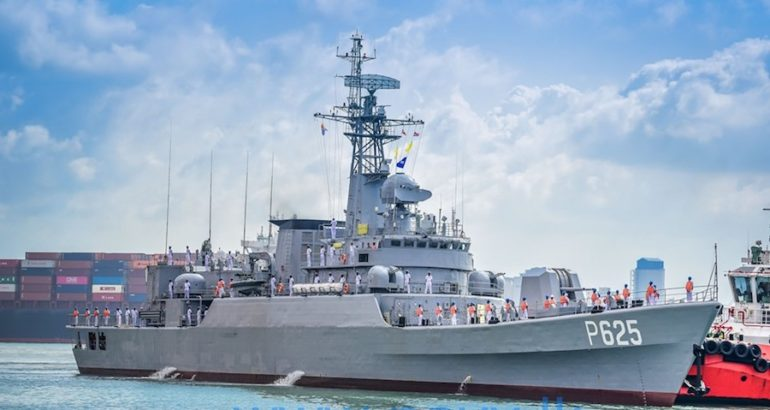 The Type 053H2G-class frigate taken over from the People's Liberation Army Navy (PLAN) to increase the operational capabilities of the Sri Lanka Navy arrived at the port of Colombo on July 8th 2019.
