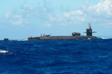 U.S. Navy Cruise Missile Submarine USS Michigan Begins 17-month Refit Period