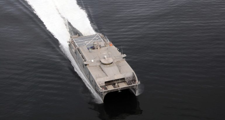 U.S. Navy Testing EPF as Drone Mother Ship