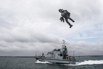 Video:  Real-life 'Ironman' debuts over water with Royal Navy FPB