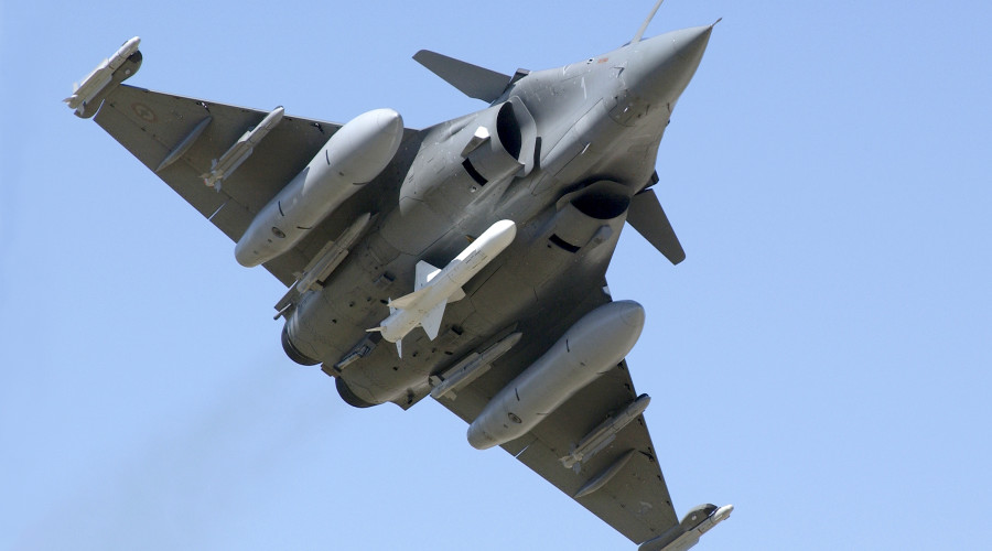 Rafale carrying Exocet missile during trials.