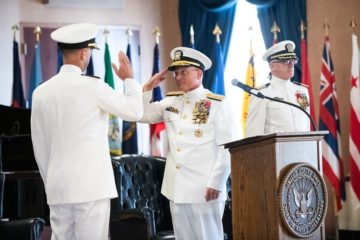 Adm. Mike Gilday Relieved Adm. John Richardson as U.S. Navy CNO