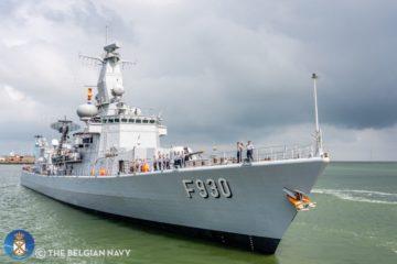 Belgian Navy Frigate Leopold I Set Sails for NATO Deployment