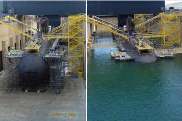 French Navy SSN 'Suffren' Now in the Water at Naval Group Shipyard