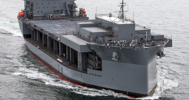 The third Expeditionary Sea Base ship, Louis B. Puller