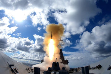 RAN Hobart-class Guided Missile Destroyer fires SM-2 missile in Australian waters for the first time