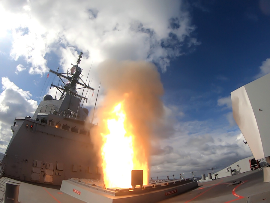 HMAS Hobart (III) has become the first Royal Australian Navy Hobart class Guided Missile Destroyer to fire a missile in Australian waters. Hobart fired an SM-2 Standard Missile in the East Australian Exercise Area against an unmanned target during trials off the coast of New South Wales, achieving excellent results.