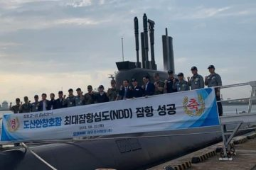 ROK Navy's 1st 3000 tons KSS-III Submarine 'Dosan Ahn Chang-ho' Passes Max Depth Test