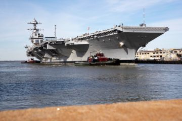 U.S. Navy Fixes Propulsion Issues on its Newest Aircraft Carrier USS Gerald R. Ford