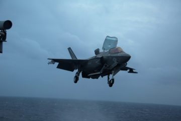 USMC F-35B Lightning II Fighters Complete GAU-22 Cannon, Ordnance Hot Reload Training