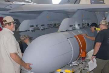 1st Next Gen Jammer Mid-Band Pod at NAS Patuxent River for Testing
