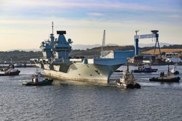 Britain's Second Aircraft Carrier HMS Prince of Wales Set Sail for Sea Trials