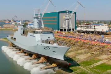 Damen launched Pakistan Navy's second 2300 tons corvette