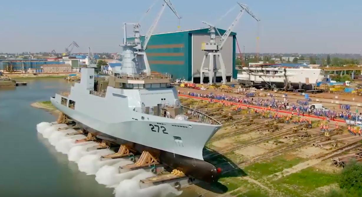 Damen launched Pakistan Navy's second 2300 tons corvette