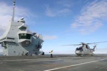 First aircraft lands on HMS Prince of Wales