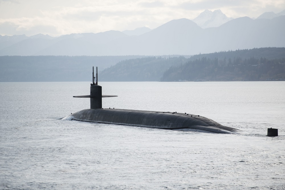 U S  Navy SSBN USS Nebraska Tests Four Trident II D5 SLBM