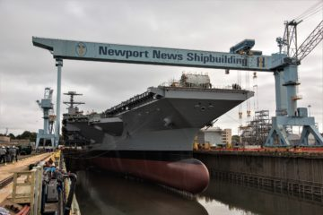 HII Floods Dry Dock in Preparation for Christening Of Aircraft Carrier John F. Kennedy (CVN 79)