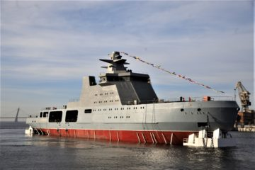 Russian Navy Icebreaker Ivan Papanin Floated in St. Petersburg