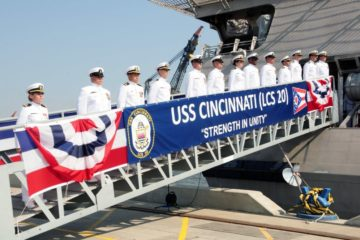 U.S. Navy Commissioned Littoral Combat Ship Cincinnati LCS 20