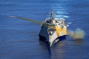 Video: USS Gabrielle Giffords LCS 10 Launches 1st Integrated Naval Strike Missile