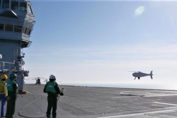 Camcopter VTOL UAV Fully Integrated to French Navy LHD 'Dixmude'