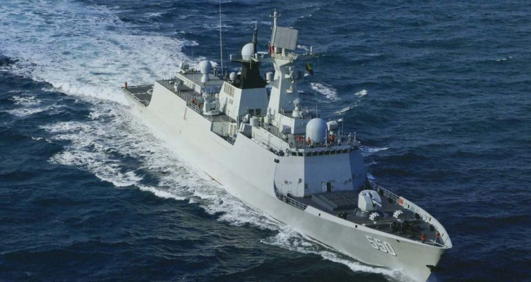 Type 054 Frigate 潍坊 / Weifang of the PLAN.