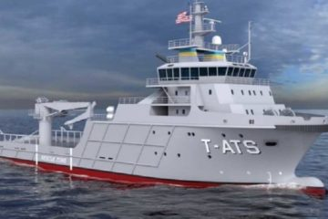 Gulf Island Shipyard Laid Keel of First-in-Class T-ATS for U.S. Navy