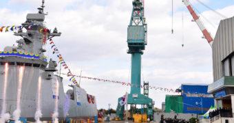 HHI Launched Third Daegu-class FFX Batch II frigate for ROK Navy