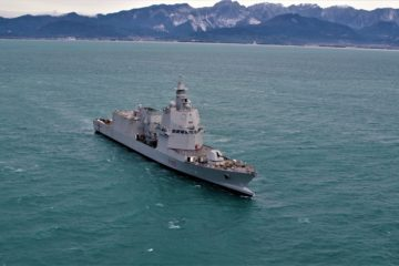 First Steel Cutting ceremony for Italy's 5th Multipurpose Patrol Ship