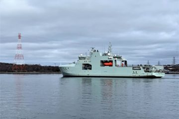 Royal Canadian Navy lead AOPS Starts Sea Trials