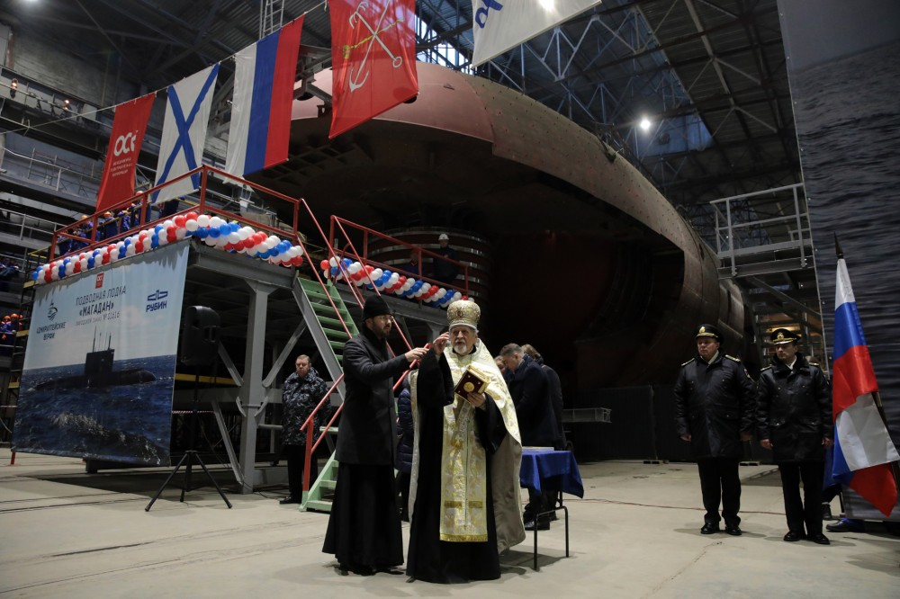 Russia Laid Keel of Project 636.3 Submarines Ufa & Magadan for the Pacific fleet - Naval News