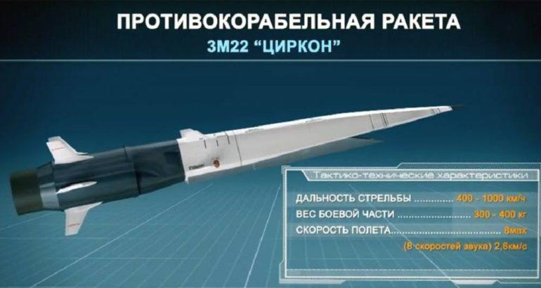 Artist impression of 3M22 Tsirkon / Zircon hypersonic missile
