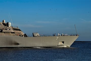U.S Navy LCS USS Detroit Set Sails for Maiden Deployment