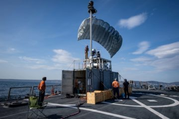 U.S. Navy Tested TALONS Elevated Sensor Mast System from a Destroyer during NATO Exercise